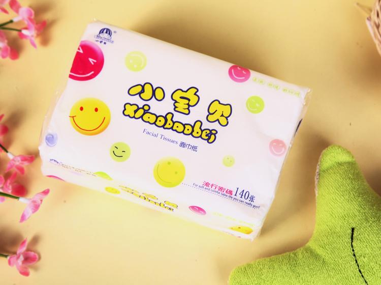 小宝贝 包装:1包-2包 类型:抽取式面巾纸 纸品层数:2层 产地:中国大陆